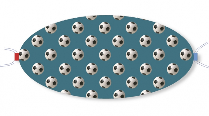 Ovaletti - Mouth-Nose Protection / Footbaals in Front of Bluegreen