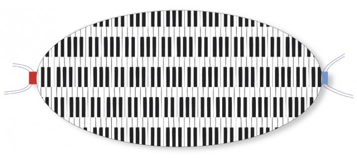 Ovaletti - Mund-Nasen-Maske / Piano