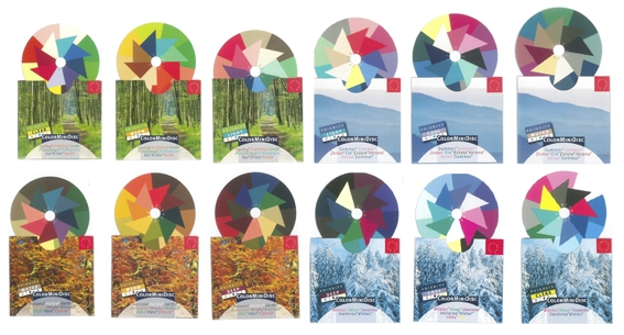 ColorMiniDisc-Set / 4x3 Seasons (12)