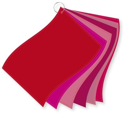 ColorFlag-Analysereihe rot / 6 Tücher nach Farbqualiäten