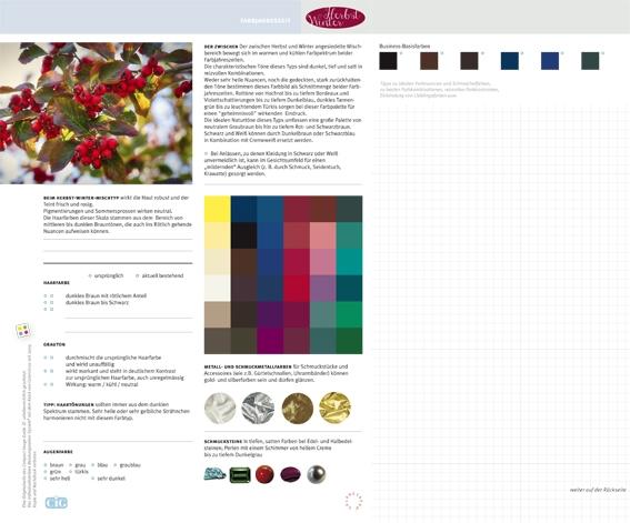 C.I.G. Farbjahreszeit Herbst-Winter / VE (5)