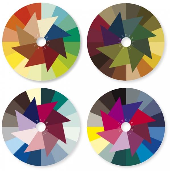 ColorDisc-Set, 4 Farbjahreszeiten