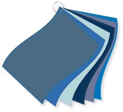 ColorFlag-Analysereihe blau / 6 Tücher nach Farbqualiäten