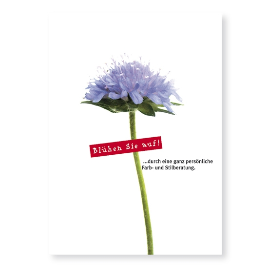 Postkarte Aufblühen
