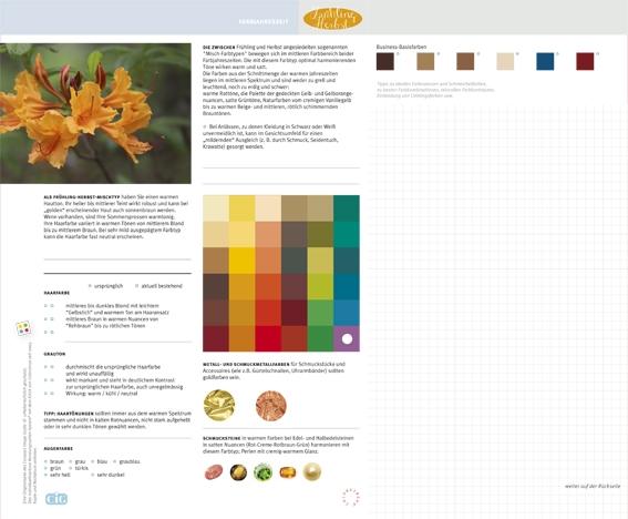 C.I.G. Farbjahreszeit Frühling-Herbst / VE (5)
