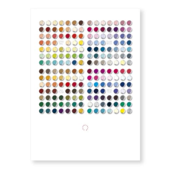 """Postkarte """"Farbdrops"""""""