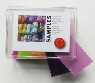 Stoffmuster-Box / Uni-Farben