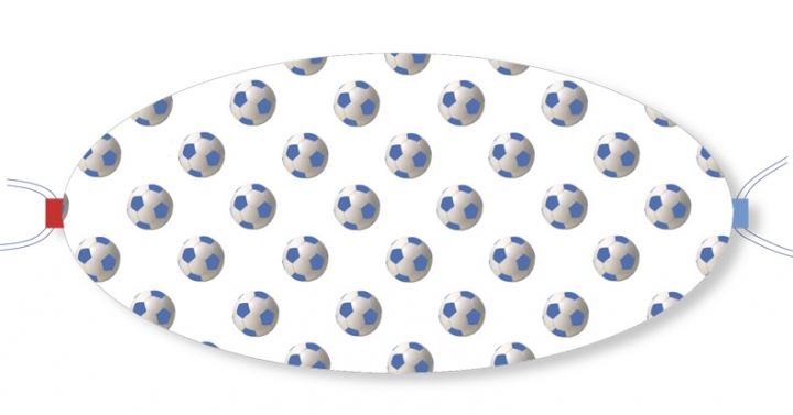Ovaletti - Mouth-Nose Protection / Blue Footballs