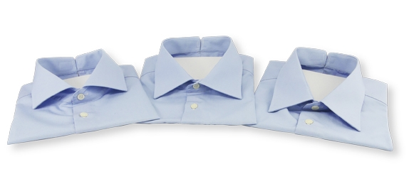BluffShirts, 3 Styles in Neutral Business Blue
