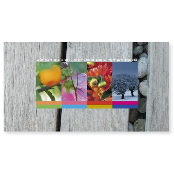 """Postkarte XXL """"Portion Farbe"""""""