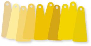 ColorFlakes, gelb, Set (10 St.)