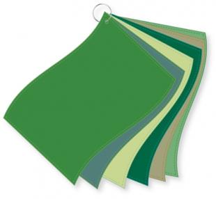 ColorFlag-Analysereihe grün / 6 Tücher nach Farbqualiäten