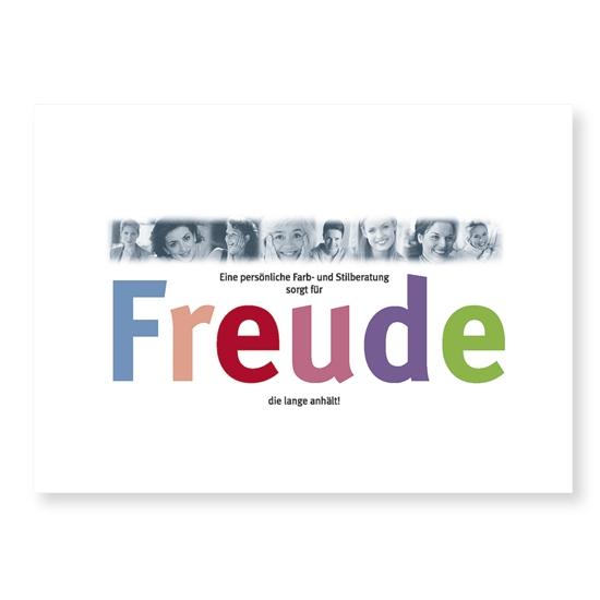 """Postkarte """"Freude"""""""