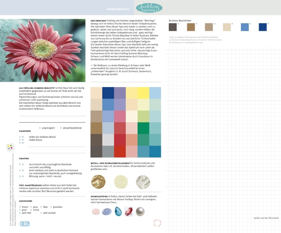 C.I.G. Farbjahreszeit Frühling-Sommer / VE (5)