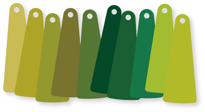 ColorFlakes, Green / Set (10)