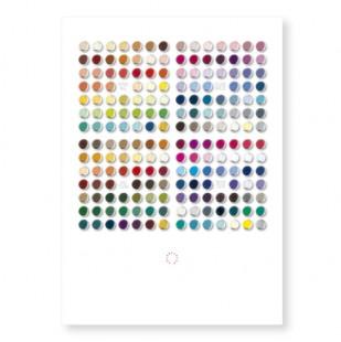 Postkarte Farbdrops