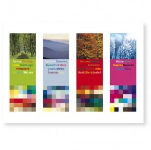 Postkarte 4 Jahreszeiten