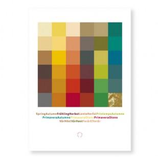Postkarte Frühling-Herbst