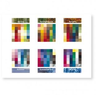 Postkarte 6 Jahreszeiten